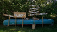 Rustic Wedding Signs $80 for all six (obo)