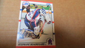 NHL rookie goaltender cards-1990