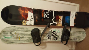 2 boards for sale powder and park 157cm
