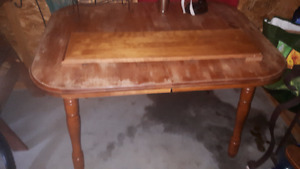 solid real wood table