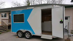 New Retail Sales Trailer with Refrigeration, Generator, 3 TV's