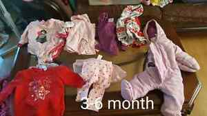 3-6 month baby girl clothing