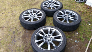 NEED GONE .FOUR 225 45 19  TIRES ON 114. 3 MM   MAZDA ALLOYS