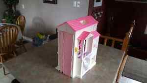Barbie house, closet, bedroom, horse, accessories, many dolls