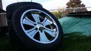 20 inch boss chrome wheels.  6 bolt.  No rust.