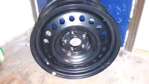 2 17inch black steel rims with tpms like new