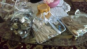 Silver plated utensils, assorted large lot