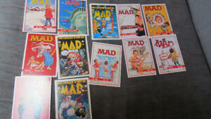 12 MAD Magazine collectors cards