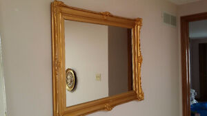 Gold retro/vintage mirror