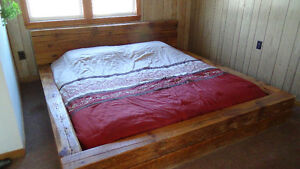Old Maple Barnboard king size bed