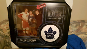 Johnny Bower signed picture