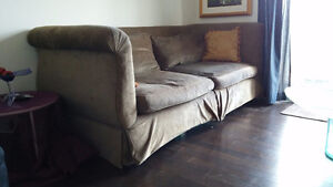 Thomasville velour couch