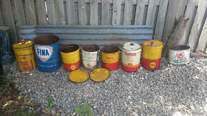Vintage Oil, Grease, Lube Cans