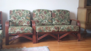 Sweet bamboo / wicker sectional n chair