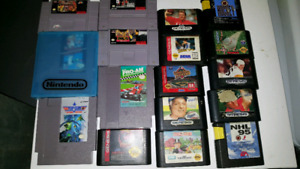 Nes, snes and genesis games