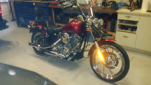 05 Softail FXSTI customized and like new