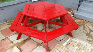 Six Sided Picnic Table