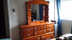Moving sale daycare closing Pine dresser and end table