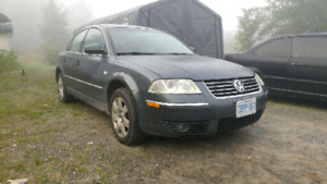 2003 VW Passat AWD, great in the snow