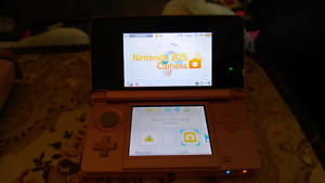 3DS rose avec chargeur, stylet, boite et manuel d'origine