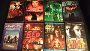 DVD's and Blurays for sale. Excellent condition and good deals!