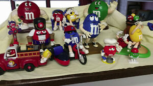 VARIOUS M+M CANDY DISPENSERS