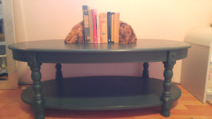 Large oval Painted coffee table