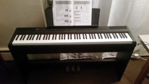 Yamaha P-105 88-Key Digital Piano + Stand + Pedals + Cover