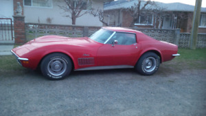 collector plate  72 Corvette; 4 spd, garage stored, firm price