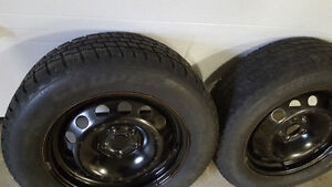 2 winter tire on rims 235,65,16 one season left, Cornwall Ontario image 1