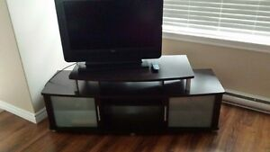 wide screen TV and TV stand