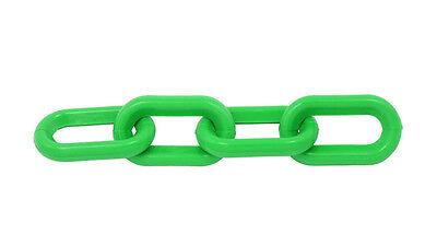 "Plastic Chain 6mm 1-1/2"" X 50 Ft  - GREEN"