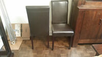 8 dining chairs in great condition for $250.00