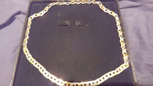 Stainless steel Two Tone Link men's chain must see