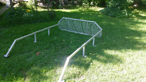 Aluminum back rack and bed rails for full size 1/2 ton truck