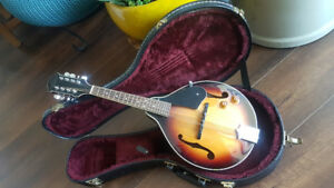 Oscar Schmidt Mandolin - built in pick-up - with case