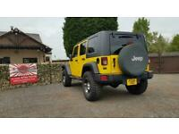 Jeep wrangler jk yellow 3,8 petrol auto rust free jap import 4.5 grade