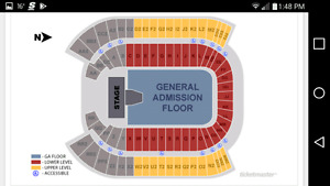 2 Metallica tickets /w Avenged Sevenfold and Gojira