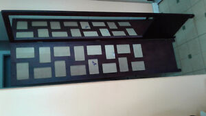 2 floor panels with mirror and collage