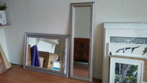 Large Silver Mirrors
