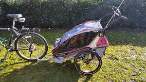 Double Chariot Bike Trailer / Jogging Stroller with accessories