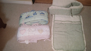 Baby blanket and bumpers