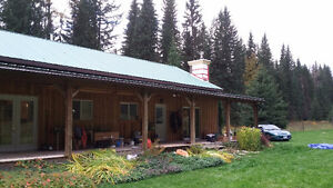 Blaeberry Acreage House for rent Golden BC