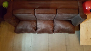 Microsuede Chocolate Brown Couch
