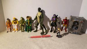G.i.joe, spiderman, tortue ninja et Marvel