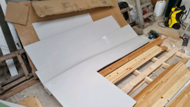 Plasterboard offcuts and plastering supplies