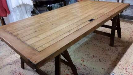 Dining Trestle Table - Ex Valley Mills