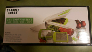 New sharper image 4 in 1 chop and slice new