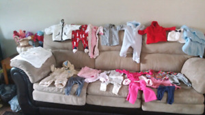 Baby girl clothing 0 to 3