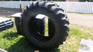 Inverted Rubber tire raised planters and livestock feeders